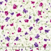 Wild Orchid - Viney Buds Cream Yardage
