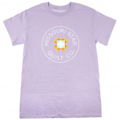 Missouri Star Circle Logo Round Neck Orchid T-Shirt - XL