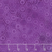 Island Bright Batiks - Honeycomb Purple Yardage