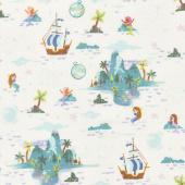 Neverland - Neverland Island Cream Yardage