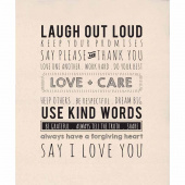 Printworks Panels - Use Kind Words Digitally Printed Panel