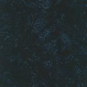 Tonga Batiks - Blue Moon Luscious Florals Abyss Yardage