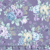 Twilight Garden - Allover Floral Eggplant Yardage