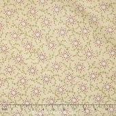 "Prairie Vine - Cream Flowers 108"" Wide Backing"
