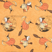 Goosetales - Mother Goose Toss Orange Yardage