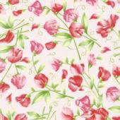 Sweet Pea - Sweet Pea Floral Pink Flannel Yardage