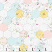 Serendipity - Hexagon Cream Yardage