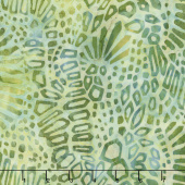 Artisan Batiks - Artful Earth Shapes Green Yardage