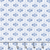 Blue Byrd - Ogee Porcelain Yardage
