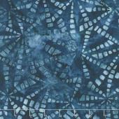 Artisan Batiks - Natural Formations 3 Rain Pinwheels Indigo Yardage