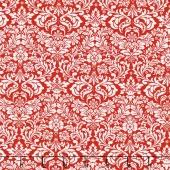 Shiny Objects - Holiday Twinkle Dazzling Damask Radiant Metallic Cherry Yardage