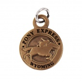 Pony Express Wyoming State Collectible Charm