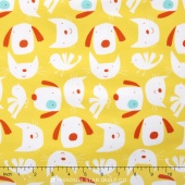 Raining Cats and Dogs - Cats And Dogs Yellow Yardage