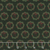 Winterberry - Wreaths Black Yardage