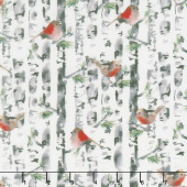 Winter Woods - Forest in White Yardage
