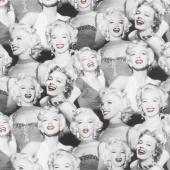 Marilyn Monroe by The Estate of Marilyn Monroe - Smiles Lipstick Digitally Printed Yardage