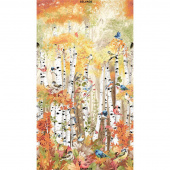 Novelty - Birds in Birch Trees Multi Digitally Printed Panel