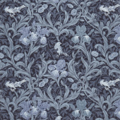 May Morris Studio - Iris 1887 Indigo Yardage