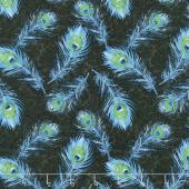 Plumage - Feathers Allover Blue Yardage