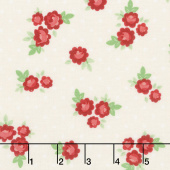 Harry & Alice - Tiny Rose Cream Yardage