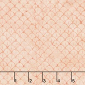 Pastel Parfait Batiks - Scales Peach & Coral Yardage