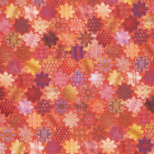 Flourish - Tiles Ruby Digitally Printed Yardage