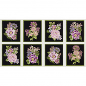 Avery Hill - Blossom Bouquet Lavender Metallic Panel