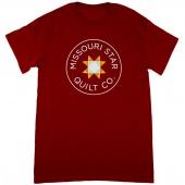 Missouri Star Circle Logo Round Neck Cardinal Red T-Shirt - Medium