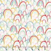 Best Friends Forever - Rainbow Paradise White Yardage