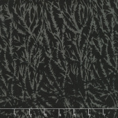 Black Beauty Batiks - Seaweed Black & Charcoal Yardage