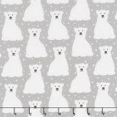 Arctic - Polar Bears Grey Yardage