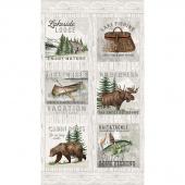 Lakeside Lodge - Blocks Multi Flannel Panel