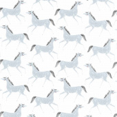 Farm Charm - Pony Party Steel Yardage