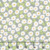 Sunny Bee - Daisies Grey Yardage