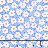 Badda Bing! - Cherry Blooms Light Blue Yardage
