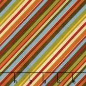 Colors of Fall - Diagonal Stripe Multi Yardage