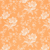 All Hallow's Eve - Woodblock Floral Pumpkin Yardage