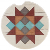 Quilt Car Coaster - Friendship Star