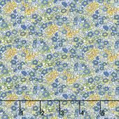 Amorette - Tiny Garden Blue Yardage