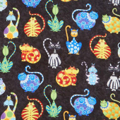 Catmosphere - Large Cats Black Yardage