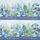 Haven - Border Blue Yardage