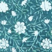 Longitude Batiks - Teal Floral Rayon Yardage