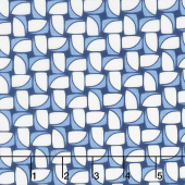Hi - de - Ho! - Chunky Pinwheels Blue Yardage