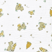 Embrace - Double Gauze Bear Hugs Banana Yardage