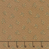 Hickory Road - Leaves Medium Brown Yardage