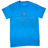 Missouri Star Bling Heather Sapphire T-Shirt - 4XL