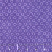 X's and O's - Wild Orchid Big Cheerio Blue Purple Yardage