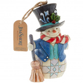 Jim Shore Heartwood Creek Top Hat Snowman Ornament