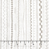 Maven - Stitches Taupe Yardage