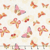 Sing Your Song - Butterflies Light Yellow Yardage